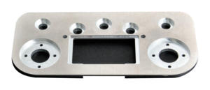 Base plate made of aluminum and stainless steel